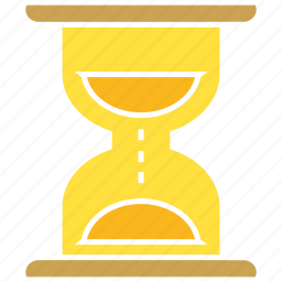 clock, sand clock, time icon