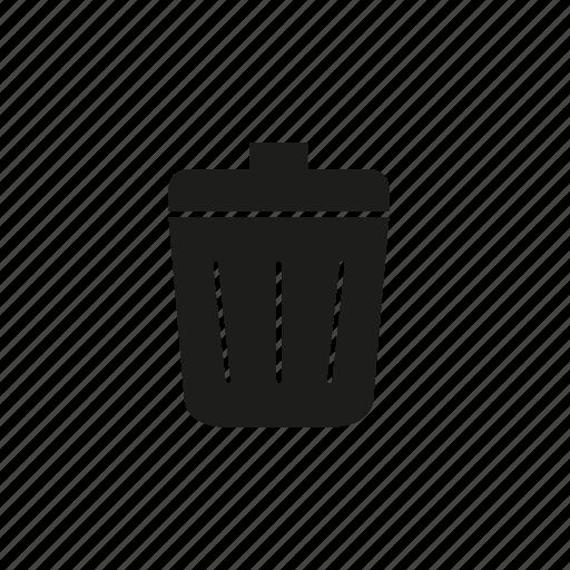 bin, delete, remove, rubbish, trash, waste icon