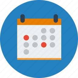 calendar, day, events, month, office, schedule, time icon