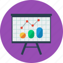 chart, graph, office, presentation, statistics icon