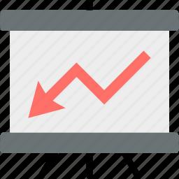 analysis, analytics, chart, diagram, down, graph, statistics icon