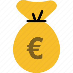 bag, bank, cash, currency, euro, finance, payment icon