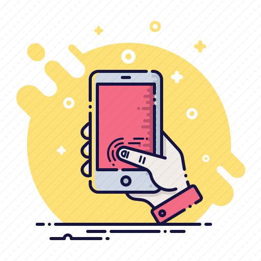 device, mobile, phone, screen, smartphone, thumb, touch icon