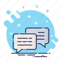 bubble, chat, cloud, comment, message, quote, talk icon