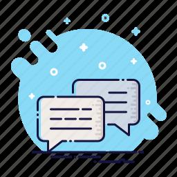 bubble, chat, cloud, comment, message, quote, talk icon