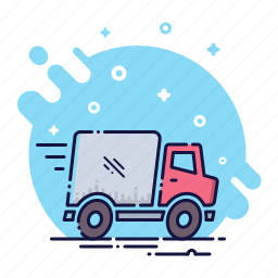 car, courier, delivery, logistic, service, transport, trucking icon