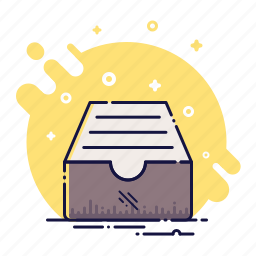 archive, box, catalog, document, drawer, office, storage icon
