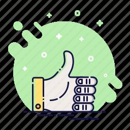 best, follow, good, like, social, success, thumb icon