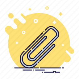 attachment, business, email, office, paperclip, school, tool icon