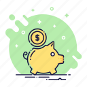 bank, cash, coin, finance, money, moneybox, piggy icon