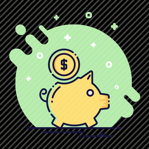 bank, cash, coin, finance, money, moneybox, piggy icon