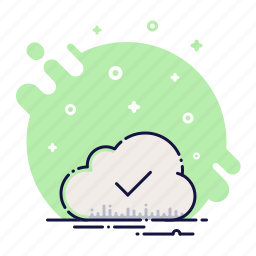 check, cloud, data, download, storage, successfully, upload icon