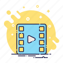 cinema, clip, film, movie, play, tv, video icon