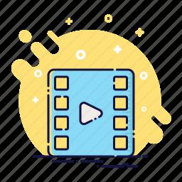 cinema, clip, film, movie, play, tv, video icon
