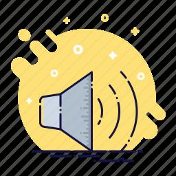 audio, communicate, music, sound, speaker, voice, volume icon