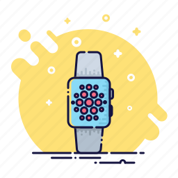 clock, device, screen, smart, time, watch, wristwatch icon