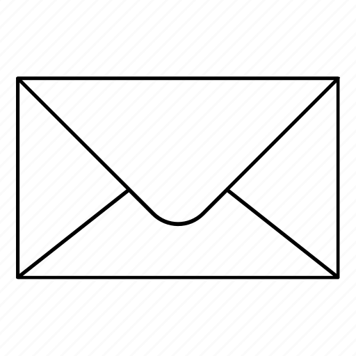 correspondence, email, envelope, mail, office supplies icon
