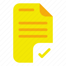 check, document, list, marks icon