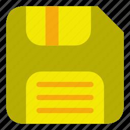 disk, diskette, drive, save icon