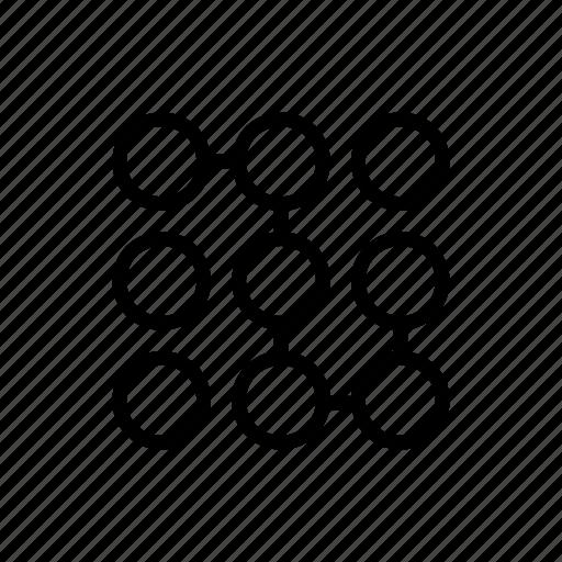 combination, connection, dialpad, nodes icon