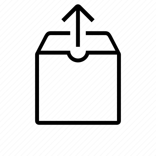 archive, box, container, export, mail, out icon