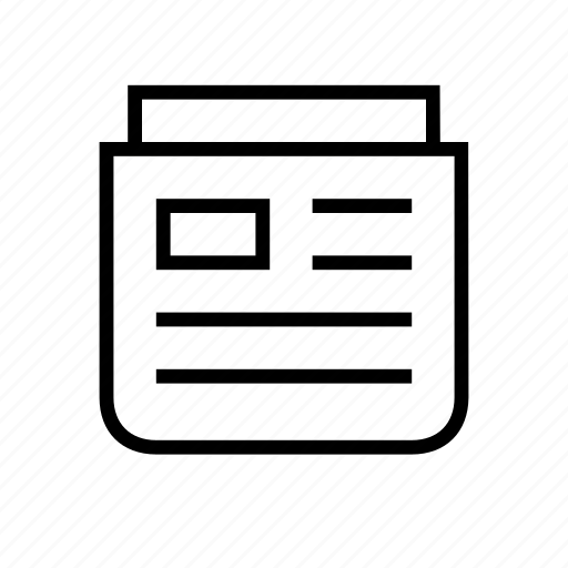 front, magazine, news, newspaper, papers icon
