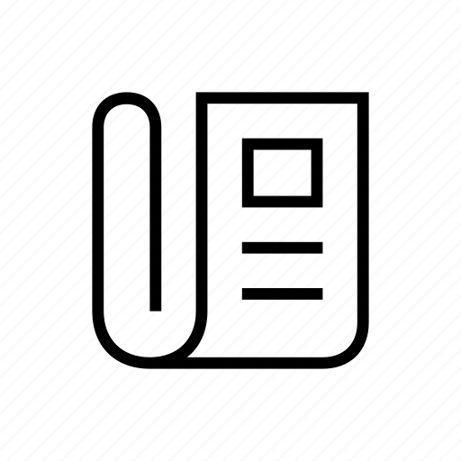 magazine, news, newspaper, papers, text icon