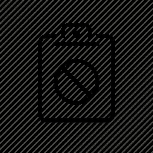blocked, clipboard, office, sheet icon
