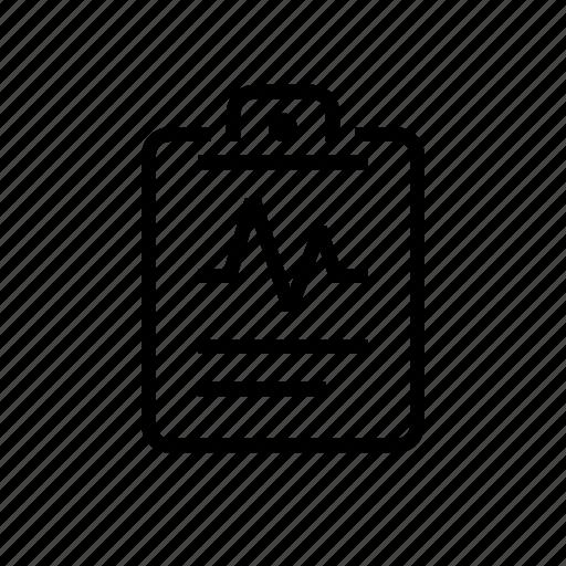clipboard, heartbeat, medial, office, sheet icon
