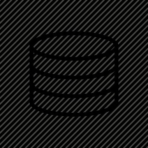 data, database, office, stack icon
