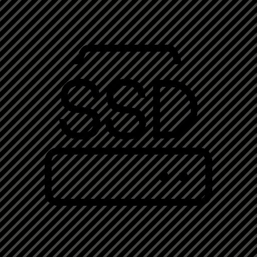 data, drive, hard, office, ssd, storage icon