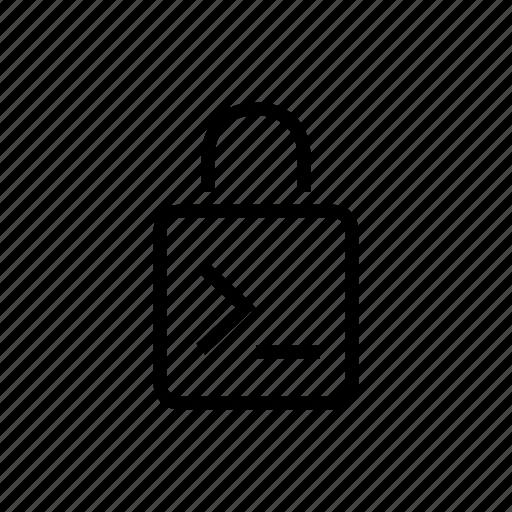 console, input, lock, office, password icon