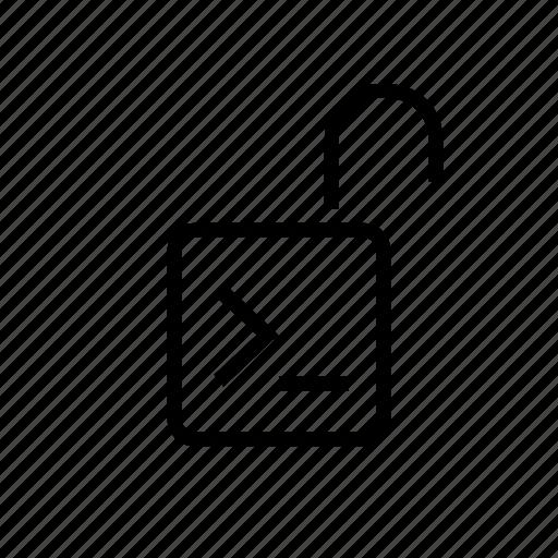 console, input, lock, office, open, password icon