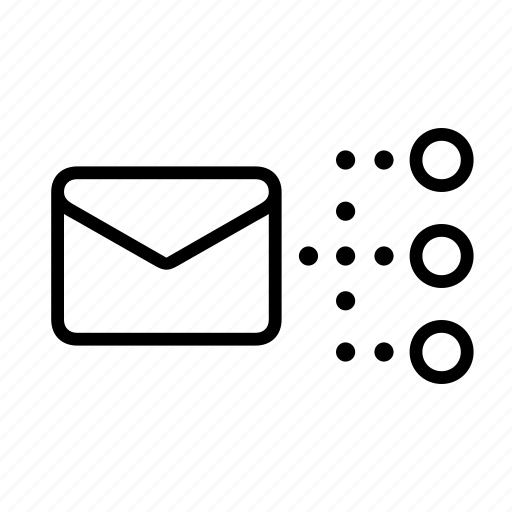 email, mail, mailing, office, recipients icon