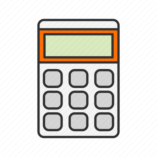 caculator, calcu, mathematics, personal digital assistant icon