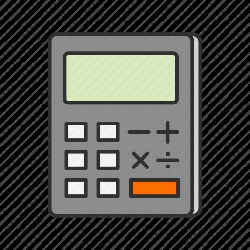 caculator, calcu, mathematics, personal digital assistant icon