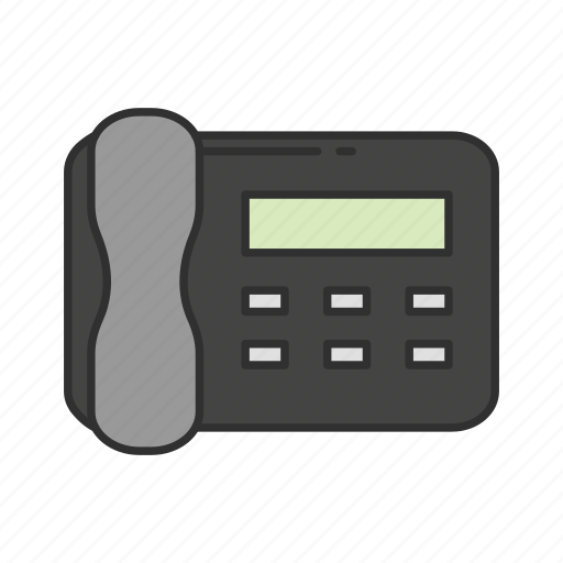fax, fax machine, phone, telephone icon
