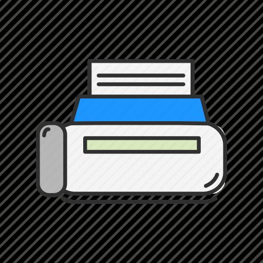 computer, print, printer, scanner icon