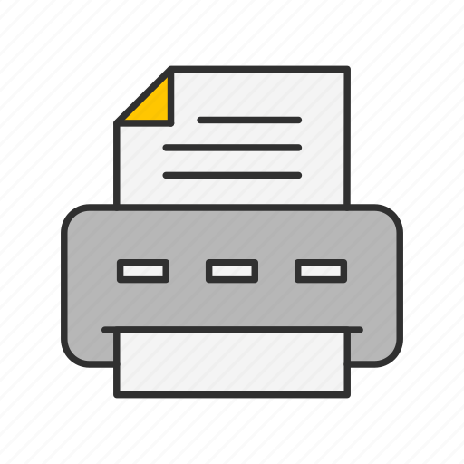 documents, printer, publisher, scanner icon
