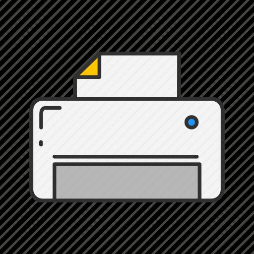 computer, photocopy, printer, scanner icon