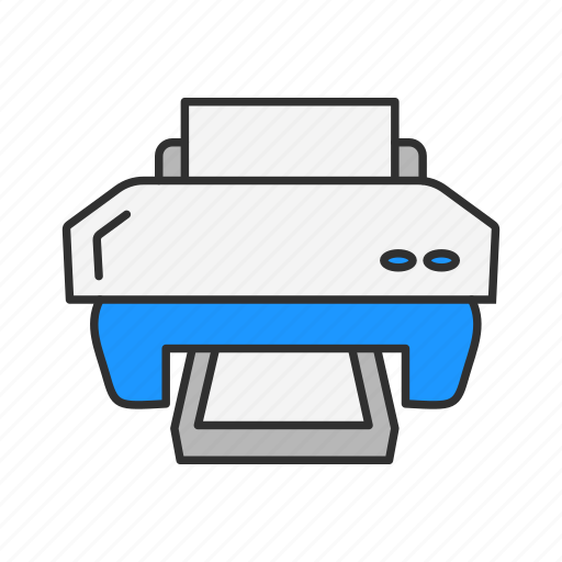 office, print, printer, scanner icon