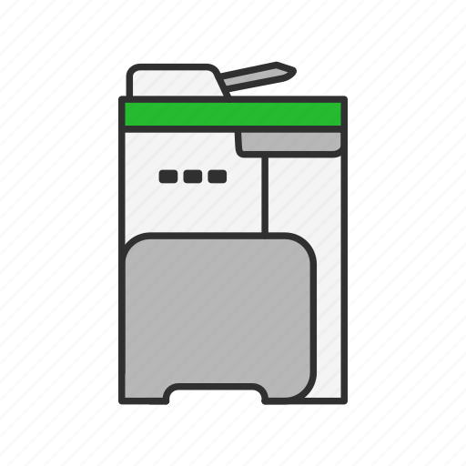 photocopier, photocopy, printer, scanner icon