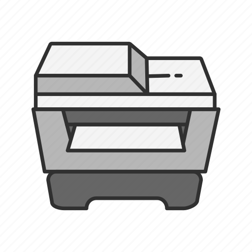 photocopier, photocopy, printer, scanner icon