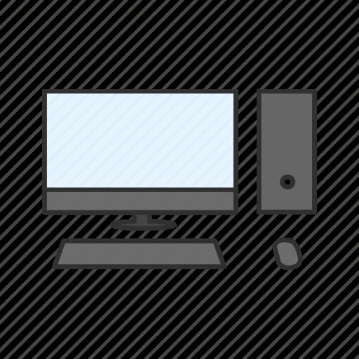 computer, cpu, mac, monitor icon