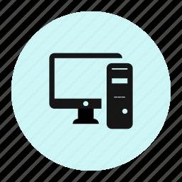 computer, desktop, server icon