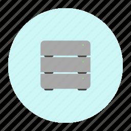 drawer, server icon