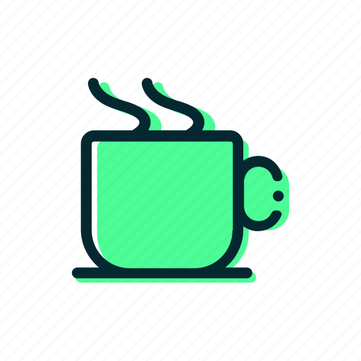 coffee, cup, food, glass, smoke, tea icon