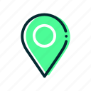 adress, location, point, select icon