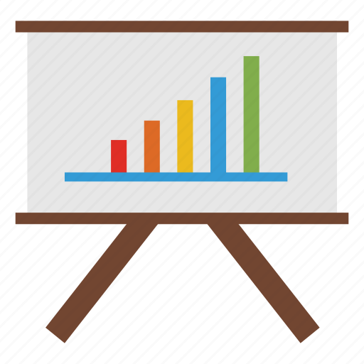 business, chart, graph, office icon