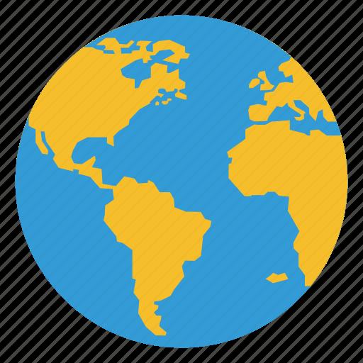 business, globe, office, world icon